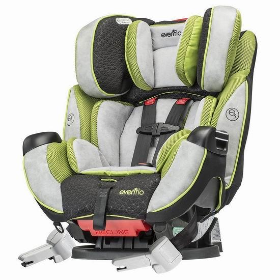 历史新低!Evenflo Symphony 65 Dlx 成长型儿童安全座椅5.5折 175加元包邮!