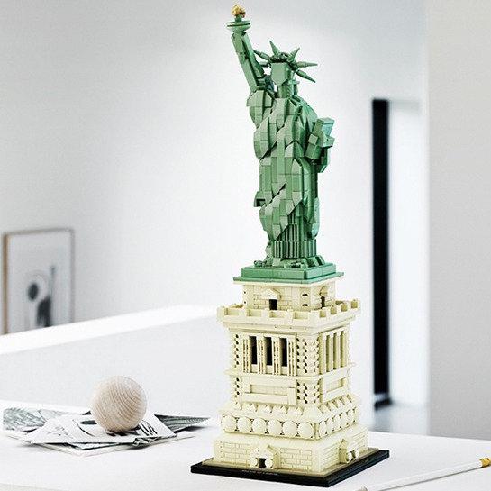 历史最低价!新品 Lego 乐高 21042 建筑系列 自由女神像(1685pcs)7.1折 99.99加元包邮!