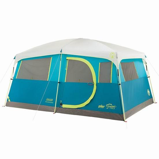 Coleman Tenaya Lake 快速搭建 8人家庭野营帐篷 288.49加元包邮!
