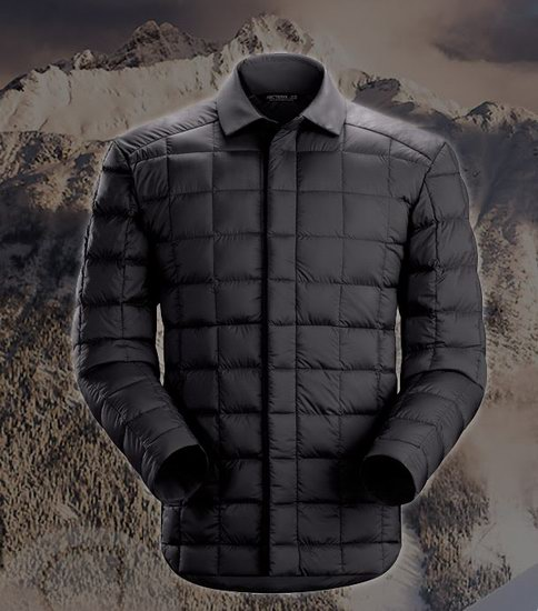 Arc'teryx 始祖鸟 Rico Shacket 男式衬衫款 鹅绒保暖夹克5.9折 208.24加元包邮!2色可选!