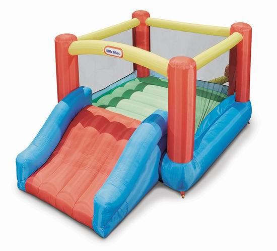 补货拼手速!历史新低!Little Tikes 小泰克 Junior Jump N Slide 大型一体式儿童充气蹦床+滑梯4.8折 143.98加元包邮!