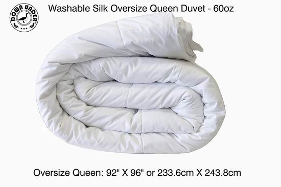 Down Under 可水洗 Oversize 天然蚕丝被(Twin/Queen/King) 119.99-199.99加元限量特卖并包邮!