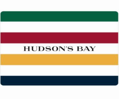 Hudson's Bay 电子礼品卡100加元仅售90加元!