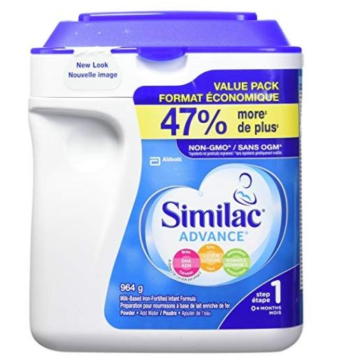 精选 Similac Similac advance step 2 婴儿配方奶粉(964 g) 37.98加元包邮!