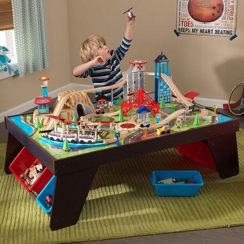 历史新低!KidKraft Aero 航空城市主题火车玩具桌套装4折 96.14加元包邮!会员专享!