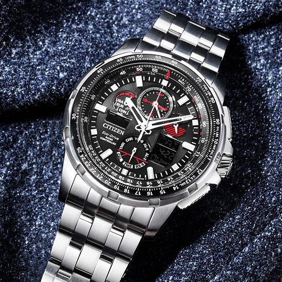 历史新低!Citizen 西铁城 JY8050-51E 五局电波 男士光动能双显腕表/手表 471.98加元包邮!