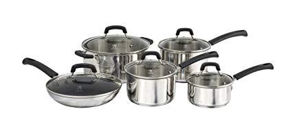 白菜价!Henckels International Zwilling 单立人 不锈钢锅具10件套1.7折 84.99-99.99加元包邮!