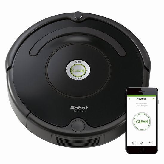 历史最低价!iRobot 671 Roomba 智能扫地机器人6.2折 299.99加元包邮!会员专享!