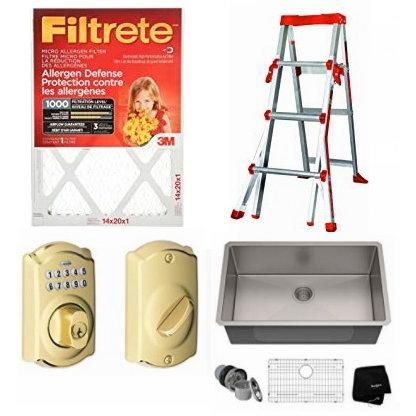 精选 Filtrete、Schlage、Weiser、Delta 等品牌空调过滤网、密码门锁、盐灯、水龙头、水盆等4.7折起!会员专享!