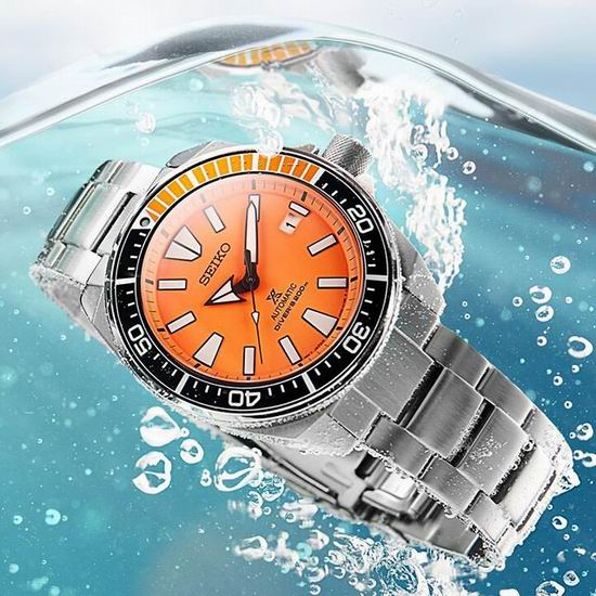 历史新低!Seiko 日本精工 SRPB97 Prospex 武士 橙盘潜水男士腕表/手表 300.09加元包邮!会员专享!