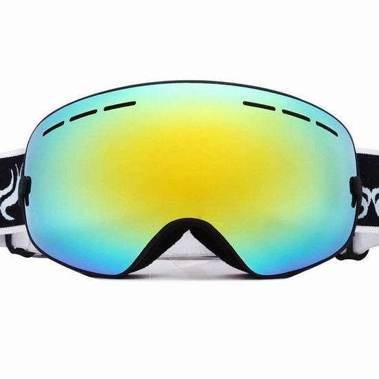 白菜价!历史新低!Docooler 防紫外线 防雾 成人滑雪护目镜 9.99加元清仓!4色可选!