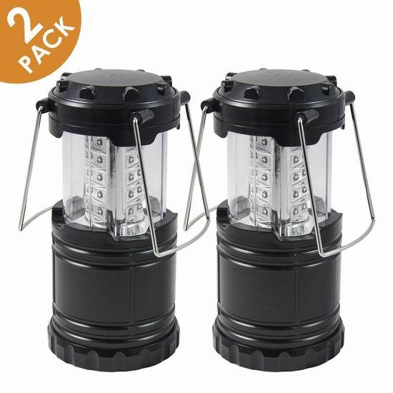 白菜价!Aspectek 便携式可折叠360度超亮LED露营灯/应急灯2件套 10.98加元清仓!