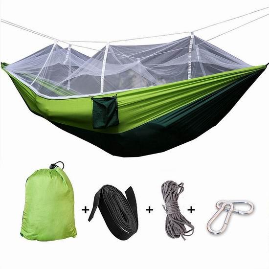Tresbro 便携式吊床+蚊帐 28.79加元限量特卖并包邮!2色可选!