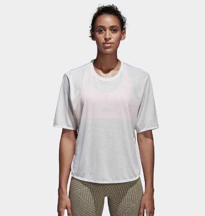 adidas FreeLift Climalite Aeroknit 女式短袖T恤2.2折 9.95加元包邮!