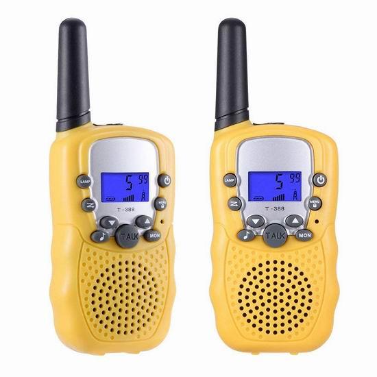 历史新低!Selieve 儿童远距离 22频道 无线手台/对讲机2件套5.3折 15.97-16.99加元清仓!2色可选!