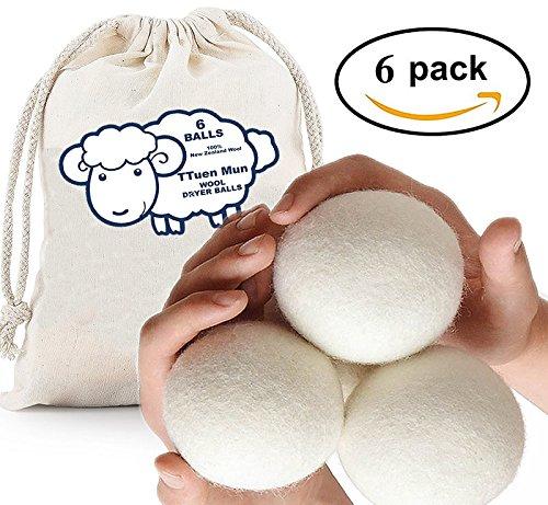 TtuenMun 新西兰纯天然 衣物烘干 羊毛球6件套 12.99加元清仓!