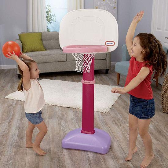 历史最低价!Little Tikes 小泰克 EasyScore 儿童成长型 粉红色篮球架+3篮球6折 27.97加元!两色可选!