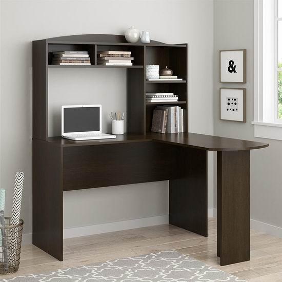 历史新低!Altra Furniture Sutton 深樱桃色 L型书桌/办公桌4.4折 140.99加元包邮!