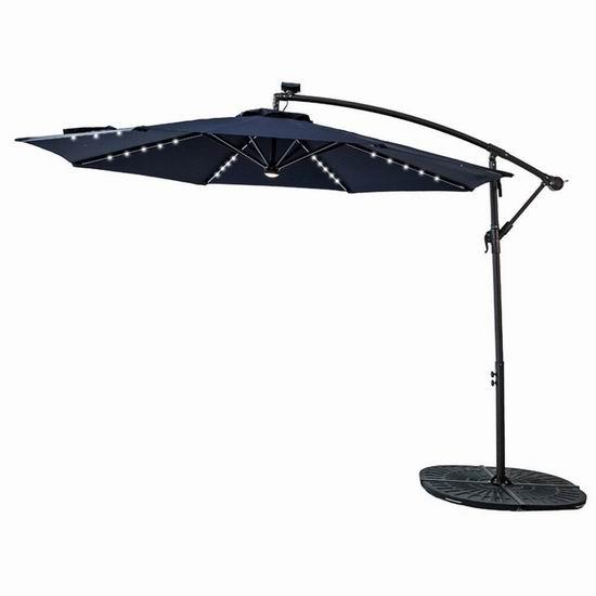 金盒头条:历史新低!多款 Flame&Shade 可倾斜庭院遮阳伞、豪华曲柄庭院遮阳伞 87.92加元起包邮!部分款式内置太阳能LED照明灯!