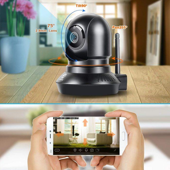 JOOAN 770 HD 720P 高清WiFi云监控夜视双向语音摄像头 38.71加元限量特卖!