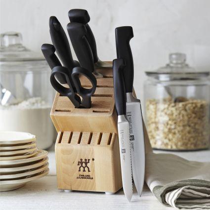 今日闪购!Zwilling J.A Henckels 双立人 四星系列厨房刀具8件套2.5折 224.99加元包邮!