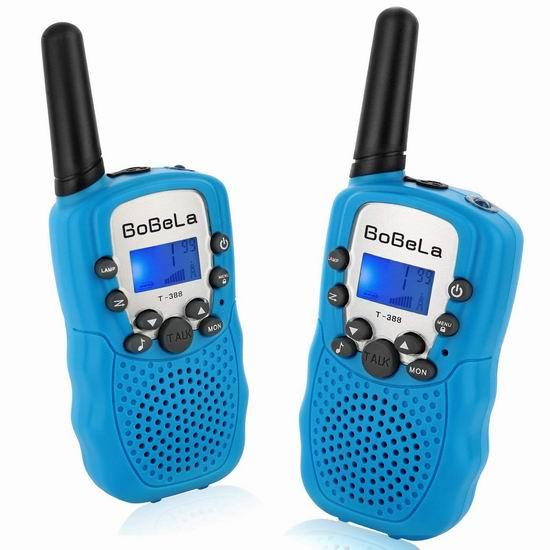 白菜价!历史新低!Bobela T388 儿童远距离 22频道 无线手台/对讲机4件套3.9折 13.99加元清仓!买两套包邮!