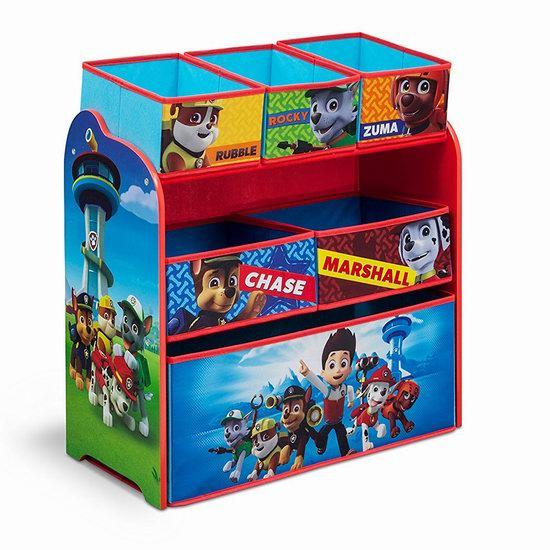 Nick Jr. Delta Children 狗狗巡逻队 儿童玩具收纳架 39.99加元包邮!