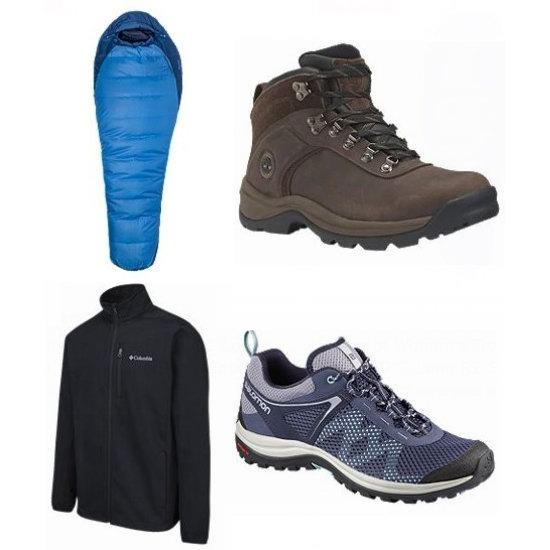 今日闪购:精选 Timberland、Columbia、The North Face、Marmot 等品牌登山靴、运动鞋、夹克、帐篷、睡袋、背包等5折起!全场包邮!