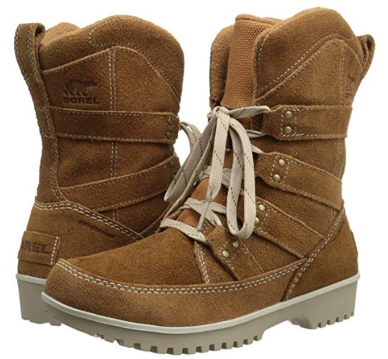 Sorel 加拿大冰熊 Meadow Lace 女式真皮雪地靴(8.5码)2.9折 46.96加元包邮!