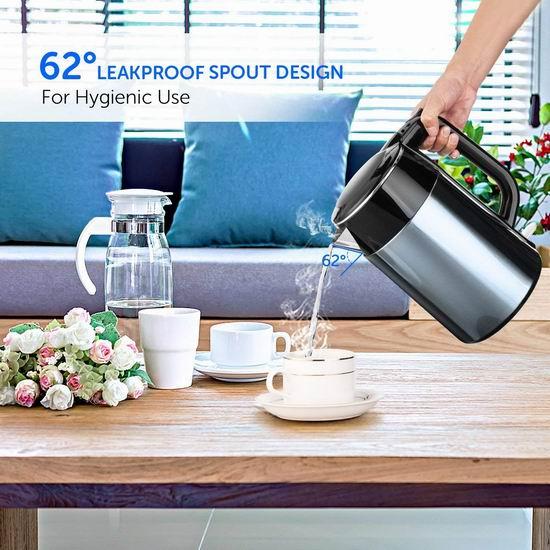 Habor 1.7升 双层不锈钢保温 电热水壶 21.19加元限量特卖!