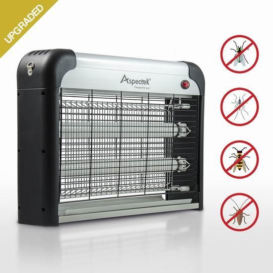 升级版蚊蝇杀手!Aspectek 20瓦室内 电子灭蚊蝇/杀蟑螂/杀虫器4.6折 45.99加元包邮!