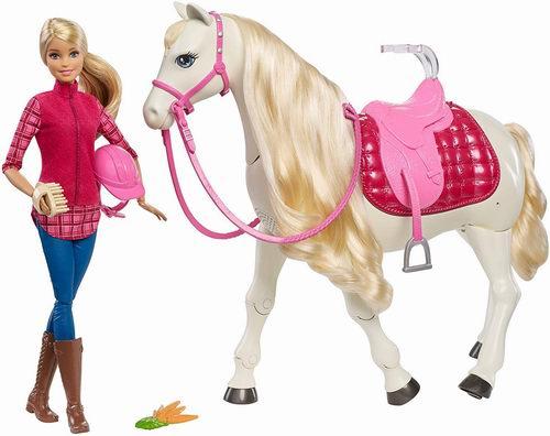 Barbie芭比娃娃与马玩偶套装 54.97加元,原价 144.99加元,包邮