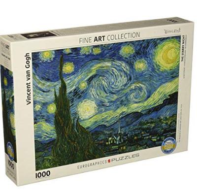Eurographics 梵高 Starry Night 《星夜》1000片拼图 14.96加元,原价 33加元