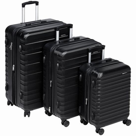 近史低价!AmazonBasics 20/24/28寸 可扩展 硬壳 拉杆行李箱3件套 155.74加元包邮!4色可选!