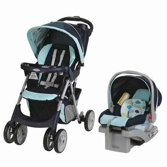 销量冠军!Graco Comfy Cruiser Click Connect 四轮婴儿推车 + 车载提篮 188.88加元包邮!