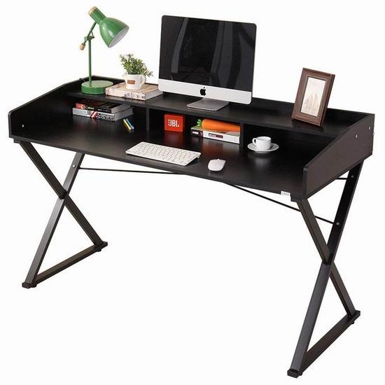 DlandHome 47英寸 时尚电脑桌/书桌 54加元限量特卖并包邮!