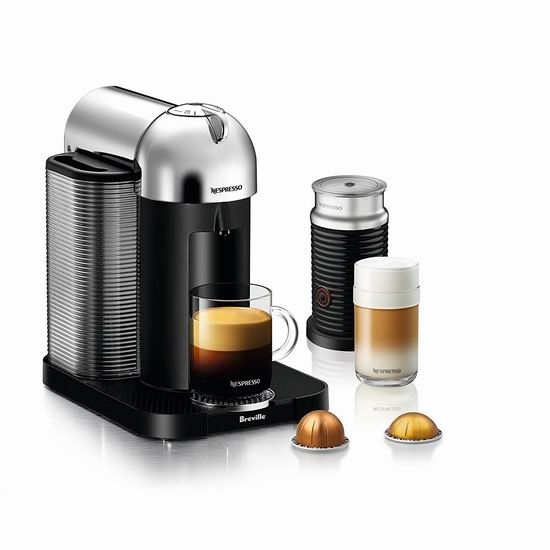 Nespresso VertuoLine 咖啡机+奶泡机套装 6.3折 199.99加元包邮!2色可选!