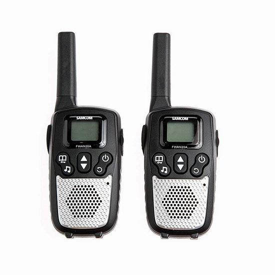 超级白菜!Samcom 10信道 可充电 专业双向对讲机2件套0.9折 7.77加元清仓!2套包邮!