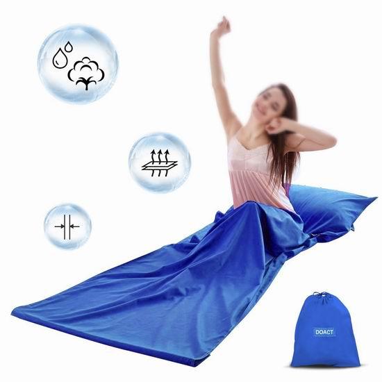 历史新低!Doact 超便携 水洗棉睡袋 12.99加元限量特卖!