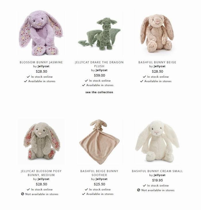 Jellycat 超萌兔子、新款水果毛绒玩具 8.5折特卖!不只是玩偶  还是时尚居家摆饰!