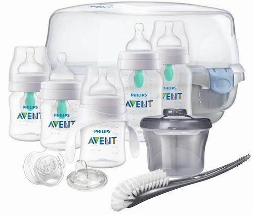 Philips Avent Anti-colic新生儿防胀气奶瓶 + 消毒器礼品套装 65加元,原价 74.79加元,包邮