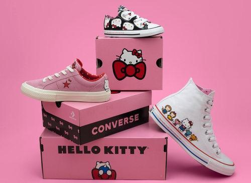 超少女心!Converse X Hello Kitty合作款帆布鞋新品热卖
