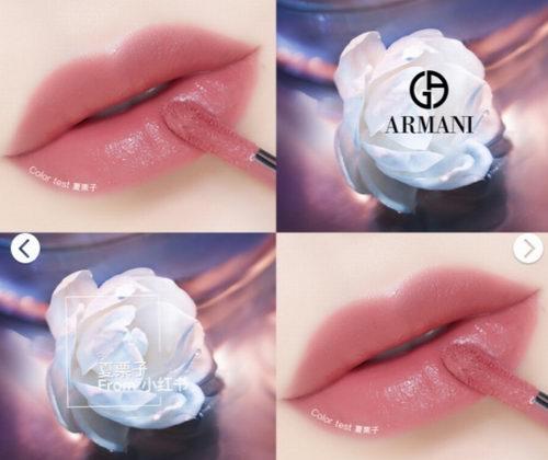 Giorgio Armani 阿玛尼 豆沙色500+限量色514+正红色400唇釉迷你套装 49加元火热销售!