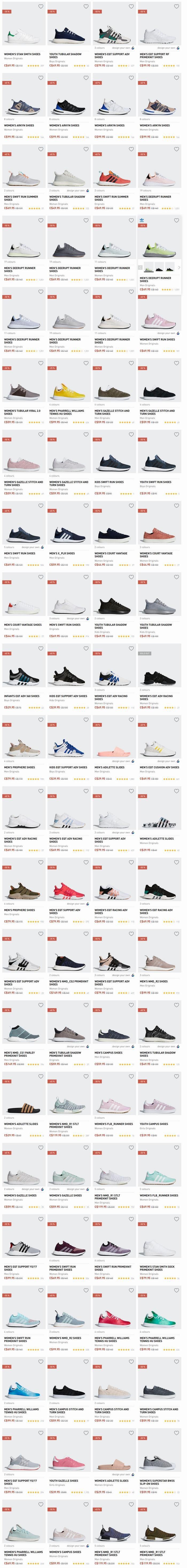 Adidas 精选成人儿童经典/NMD运动鞋3.5折起+包邮!