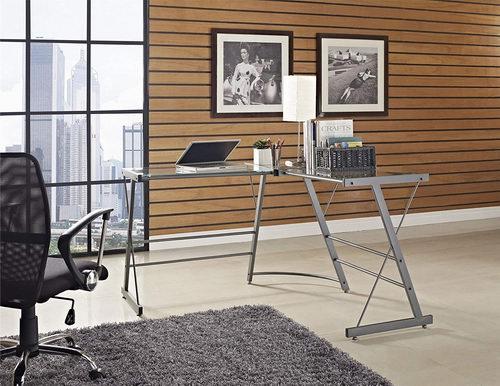 Altra Furniture Ameriwood Home Odin 玻璃L形电脑桌 102.97加元,原价 157加元,包邮