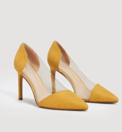 显腿长!MANGO 透明漆皮+尖头高跟鞋 34.99加元,原价 69.99加元