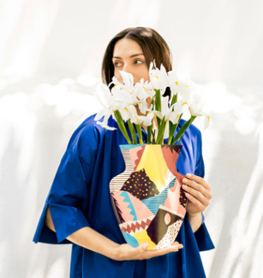 OCTAEVO 巴塞罗那 防水纸质艺术花瓶 14加元,原价 26加元,包邮