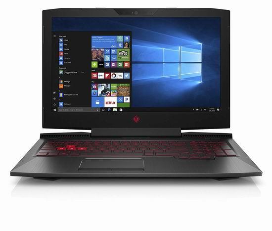 历史新低!HP 惠普 Omen 傲慢 15.6寸游戏笔记本电脑(i7-7700HQ/8GB/2TB sshd) 999.99加元包邮!