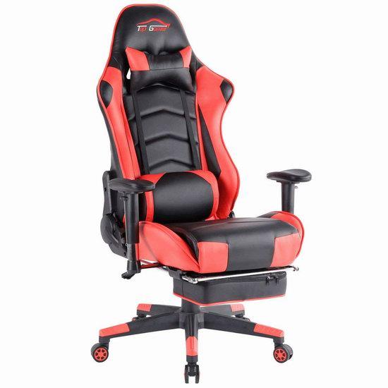 Top Gamer 人体工学 高靠背赛车办公椅/游戏椅 169-203.99加元限量特卖并包邮!5色可选!