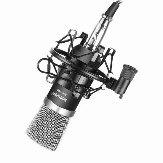 历史新低!Neewer WHLC114 NW-700 专业录音麦克风+减震架套装 16.16加元!免税!